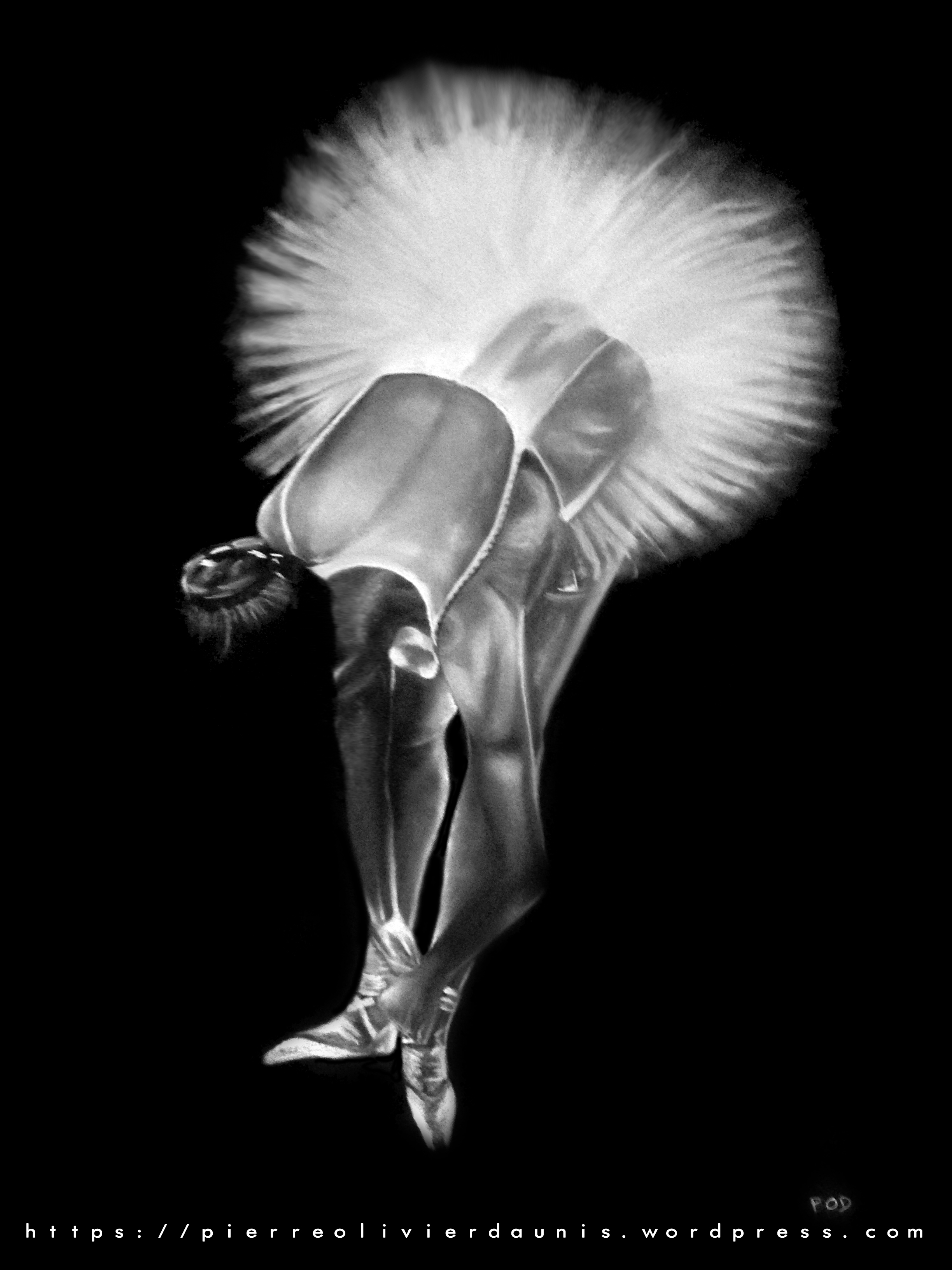 tableau de danseuse au pastel sec n°3 classique ballerine déco design moderne contemporain au pastel sec - modern dancer painting - fine art