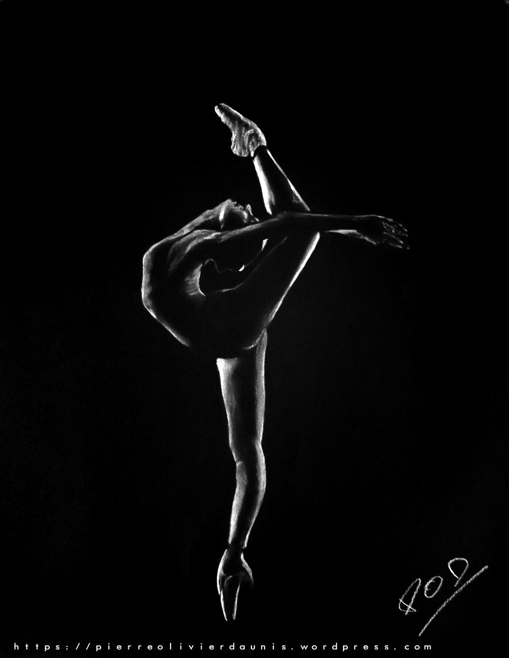 tableau danseuse au pastel sec n°8 déco design moderne contemporain au pastel sec - modern nude painting - fine art